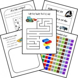 LEGO worksheets